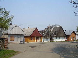 Jaśliska Village in Subcarpathian Voivodeship, Poland
