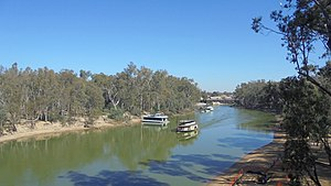 Moama - Paddle Steamer on Murray River at Moama