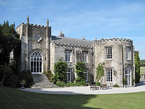 Prideaux Place - Prideaux Place, south front, remodelled circa 1810–33 in Strawberry Hill Gothic style