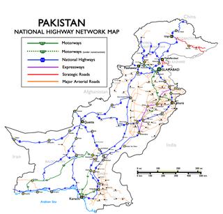 N-25 National Highway road in Pakistan