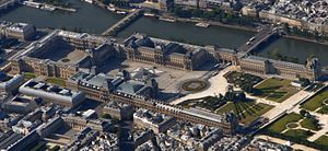 Louvre Palace - Aerial view of the Louvre Palace
