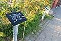 Palstek üben, eine der Anleitungen zum Knoten üben, im Außenbereich des Fischereimuseums Flensburg.JPG