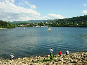 Lake Pancharevo - Lake Pancharevo from the dam