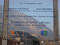 Panneau marquant le baptême de la ligne Goya en 2003.jpg