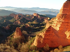 Technological history of the Roman military - Panoramic view of Las Médulas