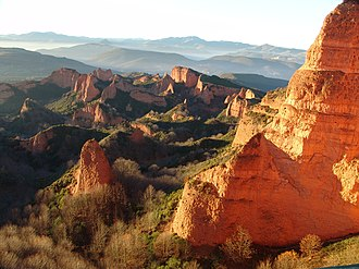 Hydraulic mining - Panoramic view of Las Médulas