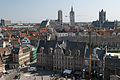 Panorama of Ghent from The Gravensteen castle (5677425140).jpg