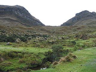 Sumapaz Páramo mountain in Colombia