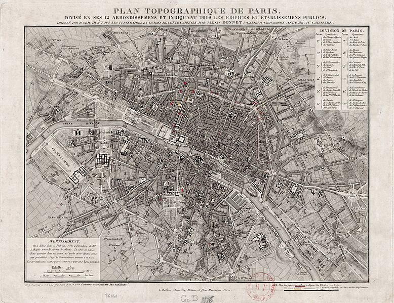 پرونده:Paris map - Donnet (Kaufmann) Architectonographie 1837 - Gallica.jpg