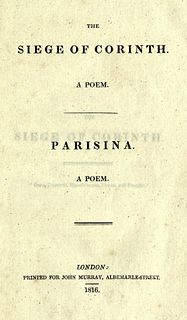 <i>Parisina</i> poem of Lord Byron