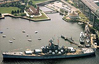 Battleship Cove Maritime museum in Fall River, Massachusetts