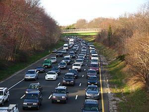 Heavy Volume Traffic on the Parkway at mile 96.6