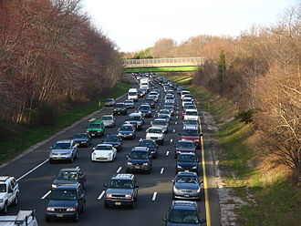 Parkway - Heavy traffic on the Garden State Parkway in Monmouth County, New Jersey, in the New York Metropolitan Area, United States. This is one of the world's busiest roadways.