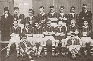 Parnells GAA - Parnells 1938 - Winners Senior League Division II, Back Row:WR Quinn(secretary) J.Gibbons, M. McCann, Padraig Toolan, E. Boland, D. Quinn, P. O'Connor, J. Flood. Middle row: J. Hunt, W. Brien, B. Quinn, J. Teeling(capt.), P. Kilbride, R. McCann, P. Deegan. Front Row: T. Mahady, P. Power