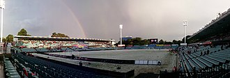 Parramatta Stadium - April 2015 Hail before A-League match.