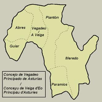 Vegadeo - Parish map of Vegadeo.