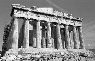 Fluting (architecture) - Image: Parthenon west front
