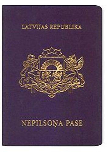Pasport negrazhdanina Latvii oblozhka
