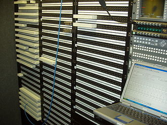 Patch panel - A remote broadcast trailer's jackfield