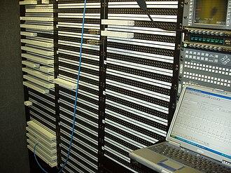 Patch panel - A remote broadcast trailer's jackfield