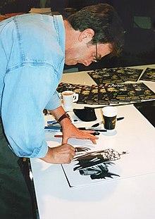 Description de l'image Paul Gulacy 1999 in Essen Auf der Spielemesse.jpg.