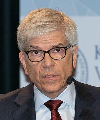 Paul Romer - Paul Romer during Nobel press conference in Stockholm, December 2018