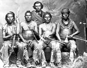 Powder River Expedition (1865) - Four of the Pawnee Scouts.
