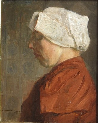 "Caroline Armington - ""Paysanne Hollandaise (Dutch Peasant)"", 1907, by Caroline H. Armington (private collection, Toronto, Ontario)"
