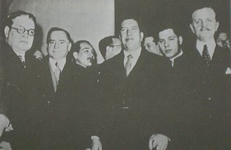 Foreign relations of Argentina - Signatories of the 1938 treaty ending the Chaco War gather in Buenos Aires. Foreign Minister Carlos Saavedra Lamas is at right.