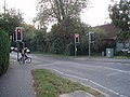Pedestrian-controlled crossing at B2233, just north west of Barnham - geograph.org.uk - 577170.jpg