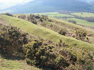 Pen-y-crug mountain in United Kingdom