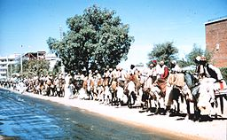 People on horseback in Fort Lamy, Chad.jpg
