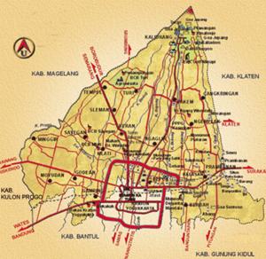 Sleman Regency - A map of Sleman, in Indonesian.