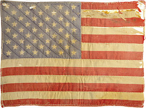 Easy Rider - Peter Fonda's American Flag patch, sold for $89,625 in 2007