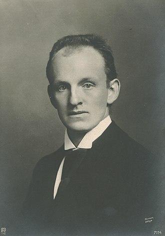 Gerhart Hauptmann - Portrait of Hauptmann, by Wilhelm Fechner, ca. 1890.