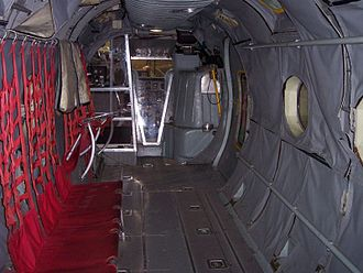 Piasecki H-21 - Piasecki H-21 interior view of the cabin