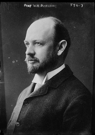 William Henry Pickering - Pickering in 1909