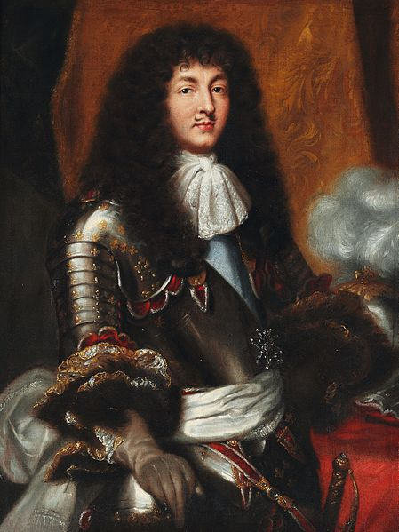 Ficheiro:Pierre Mignard (after) - Louis XIV with dark full-bottomed wig and armour.jpg