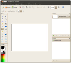 Screenshot di Pinta (software)