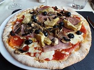 Pizza capricciosa - Image: Pizza capricciosa