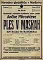 Plakat za predstavo Ples v maskah v Narodnem gledališču v Maribor 18. februarja 1928.jpg