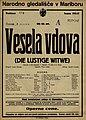 Plakat za predstavo Vesela vdova v Narodnem gledališču v Mariboru 3. marca 1927.jpg