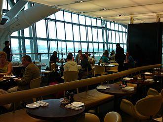 Gordon Ramsay Plane Food - The interior of Gordon Ramsay Plane Food