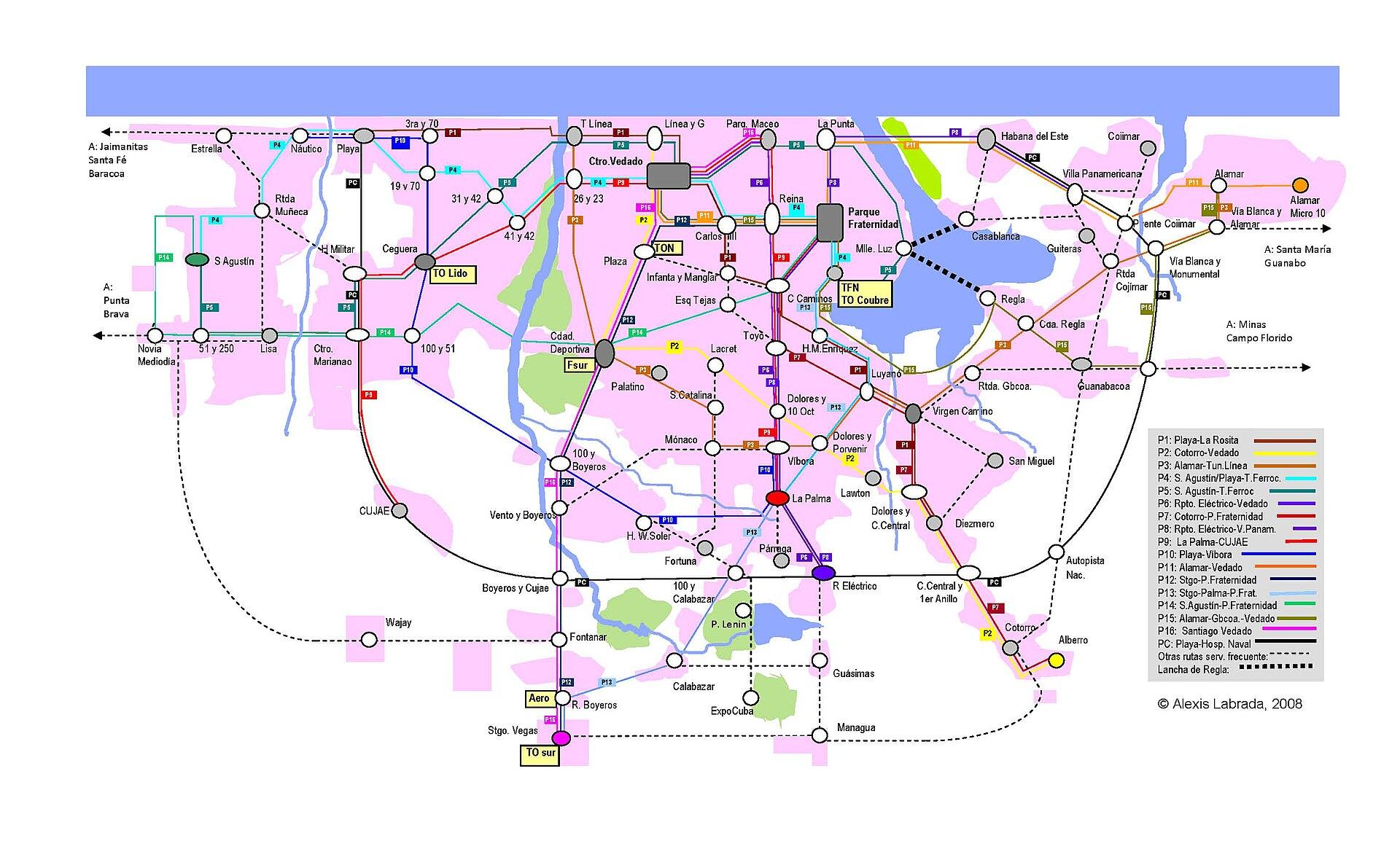 哈瓦那公車地圖