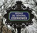 Plaque avenue du Général-Eisenhower, Paris 8e.jpg