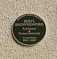 Plaque commemorating Beryl Brownsword, Bedford Park conservationist - geograph.org.uk - 1188450.jpg