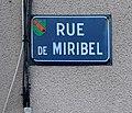 Plaque de la rue de Miribel à Saint-Maurice-de-Beynost (2019).jpg