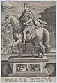 Plate 7- equestrian statue of Galba, in profile to the left, with a beheading scene in the background, from 'Roman Emperors on Horseback' MET DP877296.jpg