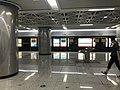 Platform of Zhaojiatiao Station from train of Wuhan Metro Line 8.jpg