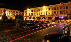 Place du Luxembourg - The square is a popular after-work meeting place in the European quarter.